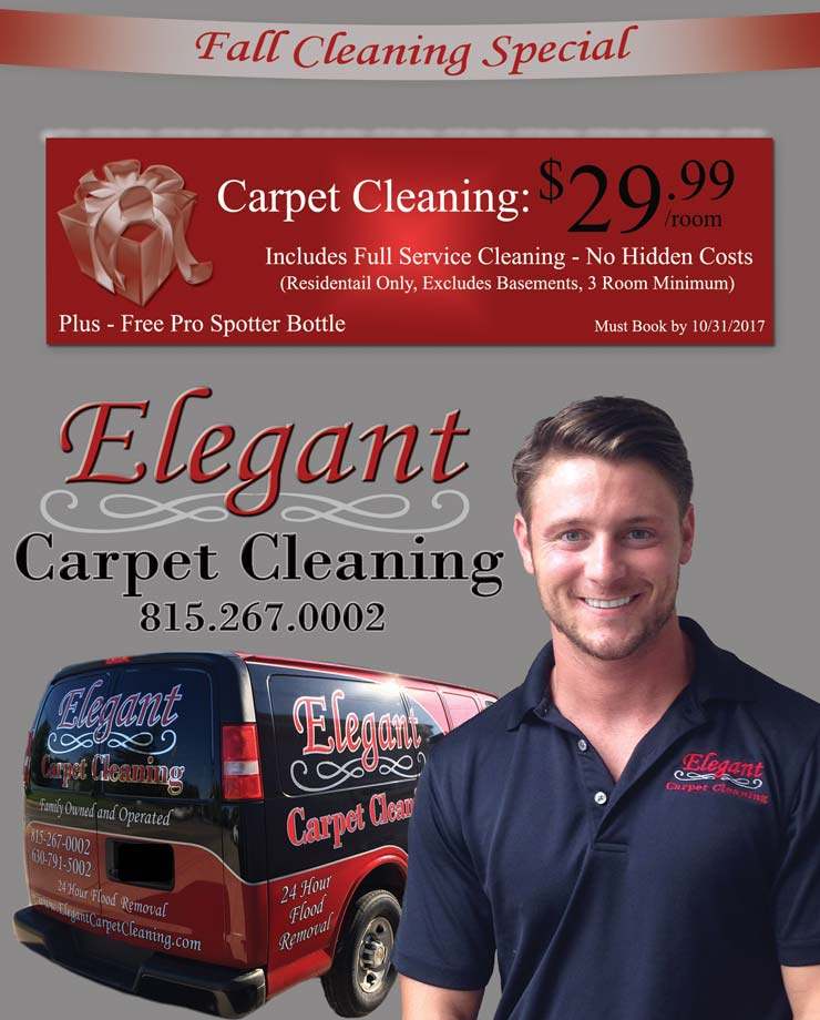 Elegant Carpet Cleaning's Featured Carpet Cleaning Coupon - $29.99 per Room + Free Gift -  Home Carpet Spotter