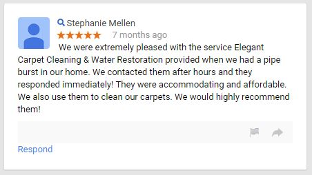 Elegant Carpet Cleaning - Review - Google - August 2014 - 5 Star