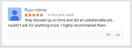 Elegant Carpet Cleaning - Review - Google - March 2015 - 5 Star