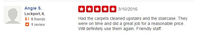 Elegant Carpet Cleaning - Review - Yelp - October 2014 - 5 Star